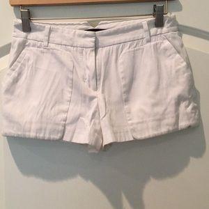BCBG White Short Shorts